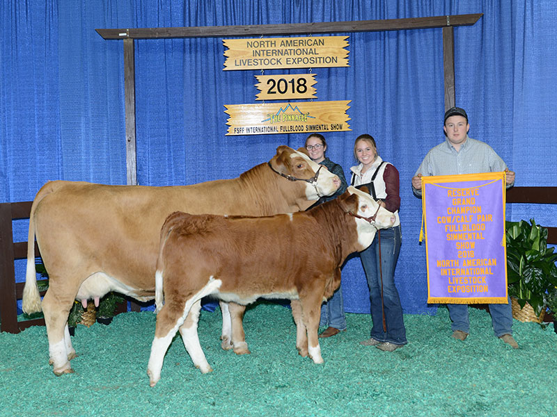 Freedom Run Farm Winners of the 2018 - Grand Champion Cow/Calf at the North American International Livestock Exposition.